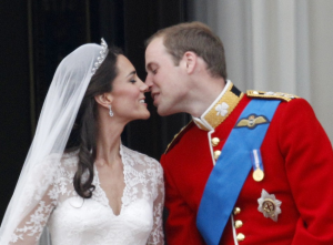 William and Kate on the balcony of Buckingham Palace